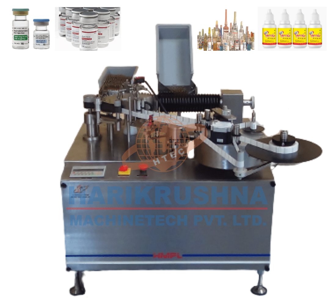 ampoule sticker labelling machine - harikrushna machinetech pvt. ltd.