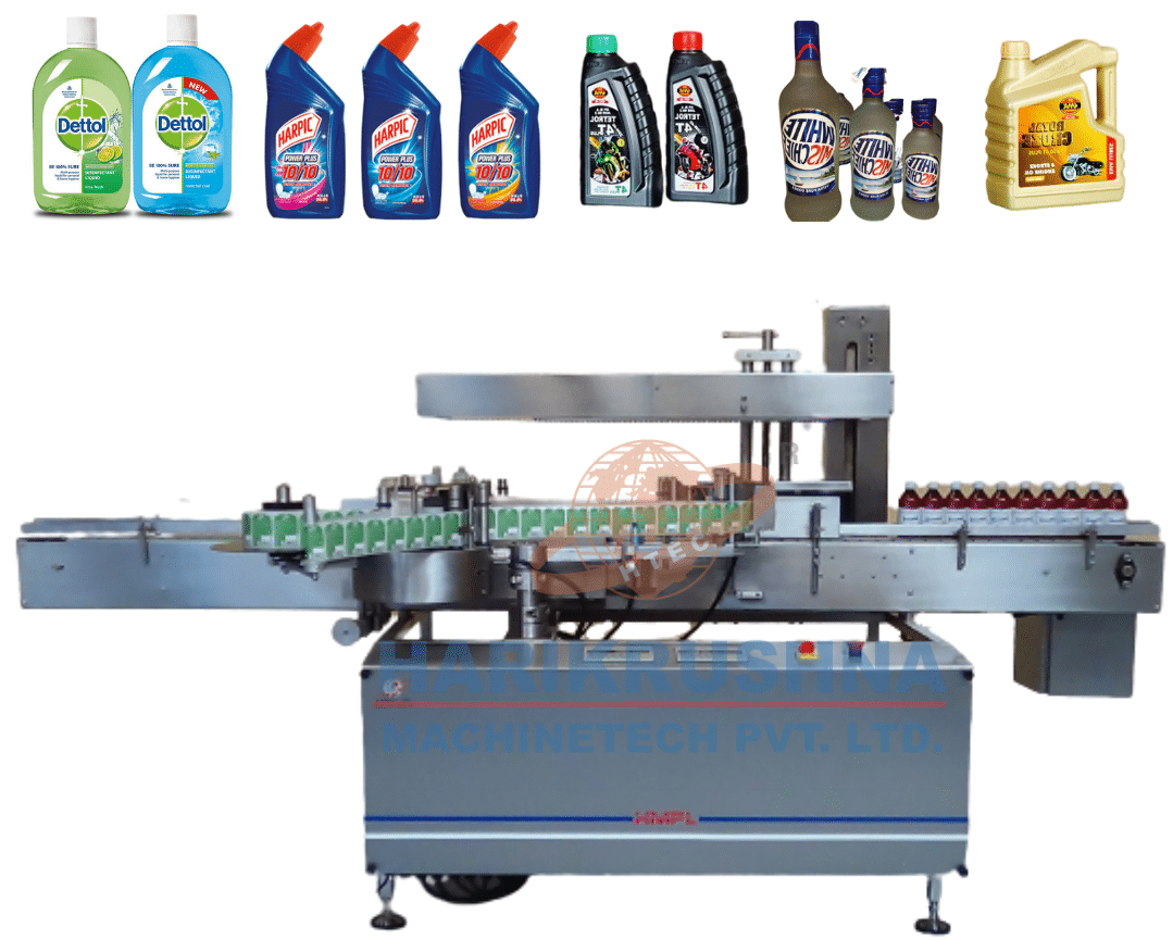 double side sticker labeling machine - harikrushna machinetech pvt. ltd.