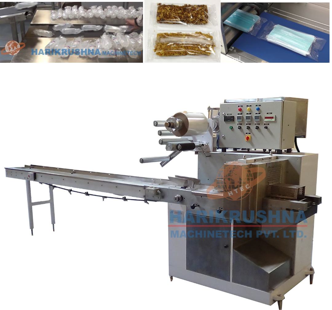 Horizontal Flow Wrap Machine - IV Fluid Bottle Wrapping Machine
