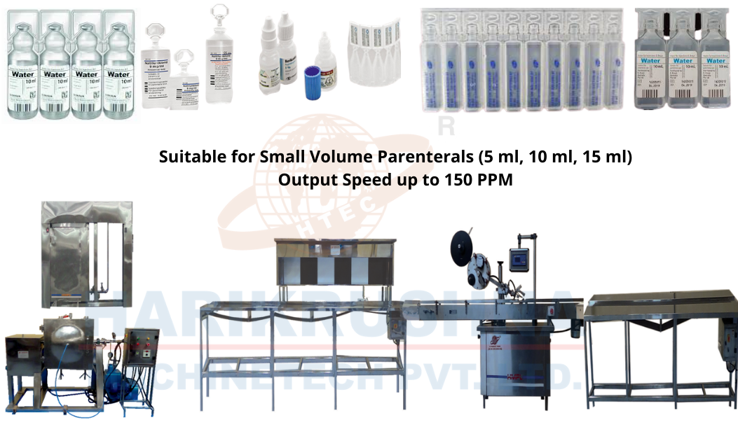 Complete I. V. Small Volume Parenterals Packing Line