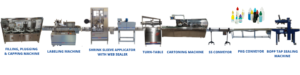 eye drop filling and capping machine - ear drop packaging line