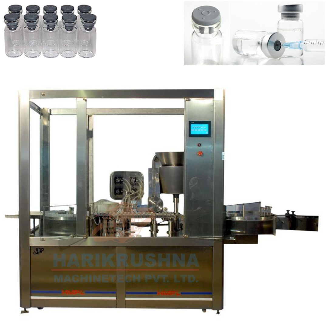 Vial Filling and Rubber Stoppering Machine - Harikrushna Machinetech