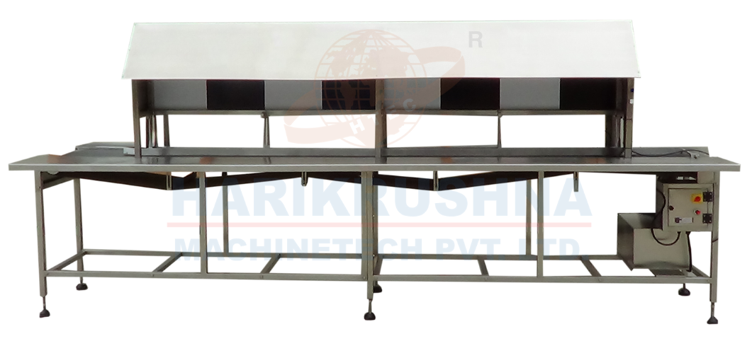 Visual Inspection Conveyor with Black and White Booth - Harikrushna Machinetech