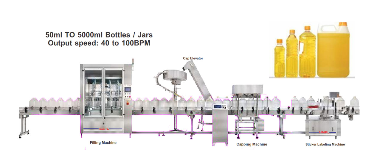 We offer Best Quality Of Edible Oil / Vegetable Oil Filling Machine, Piston filler Edible Oil filler machine, Juice Bottle filling machine , Olive Oil Bottle filling machine, Cooking Oil filling, Edible Oil filling Line, Manufacturer of Edible Oil Filling machine in Ahmedabad.