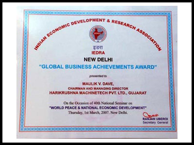 Global Business Award - - Harikrushna Machinetech Pvt. Ltd.