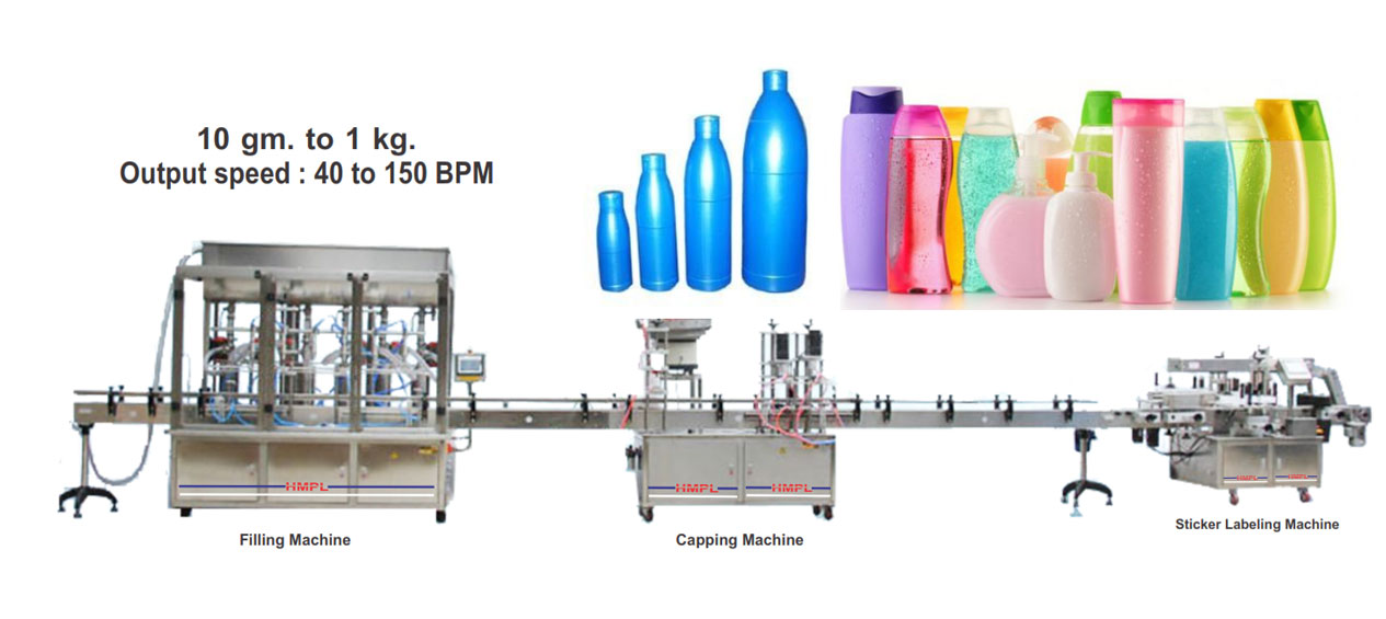 Lotion Packaging Line, cream filling machine,
