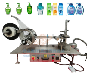 Semi-Automatic-Flat-Square-Bottle-Labeling-Machine-Table-Top